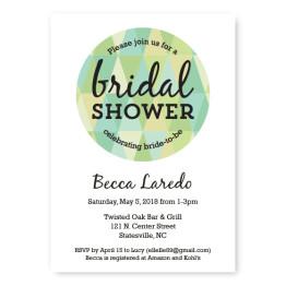 Prism Bridal Shower Invitations