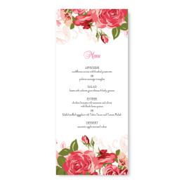 Rose Garden Menu Cards