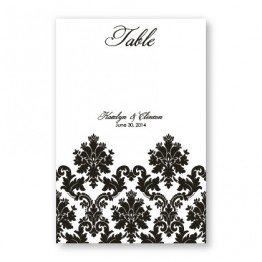 Engagingly Damask Table Cards