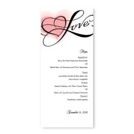 Heartfelt Love Menu Cards