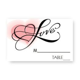 Heartfelt Love Seating Cards