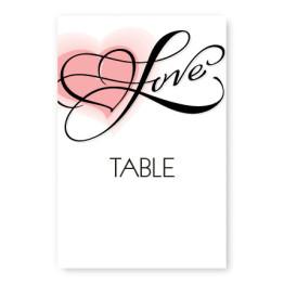 Heartfelt Love Table Cards