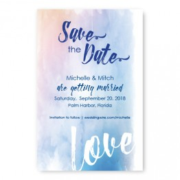 Watercolor Love Save The Date Cards