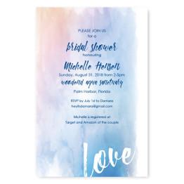 Watercolor Love Bridal Shower Invitations