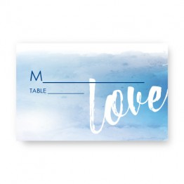 Watercolor Love Seating Cards