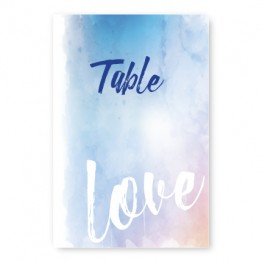 Watercolor Love Table Cards