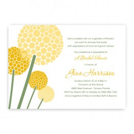 Allium Bridal Shower Invitations