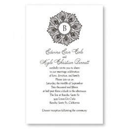 Alluring Initial Letterpress Wedding Invitations
