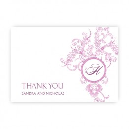 Circle Imprint II Thank You Cards