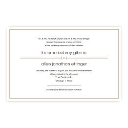 Audrey Letterpress Wedding Invitations