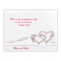 Hot Pink Hearts Wedding Invitations