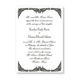 Elegantly Edged Wedding Invitations