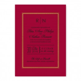 Kennedy Wedding Invitations - Real Foil Wedding Invitations!