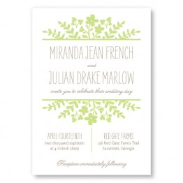 Spring Flora Wedding Invitations