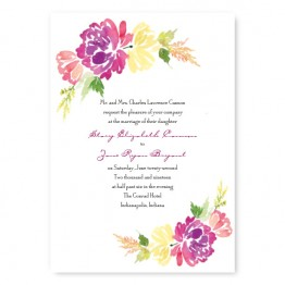 Blossoming Blooms Wedding Invitations