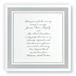Silver Elegance Wedding Invitations