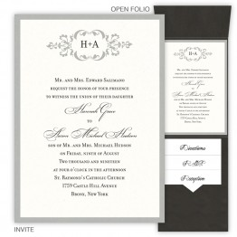 Cecilia Folio Pocket Wedding Invitations