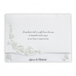 Romantic Shells Wedding Invitations