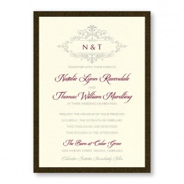 Belle 2-Layer Wedding Invitations