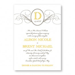 Elegance Wedding Invitations SAMPLE