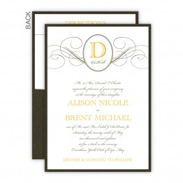Elegance Clutch Wedding Invitations