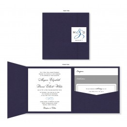 Classic Square Folio Pocket Wedding Invitations