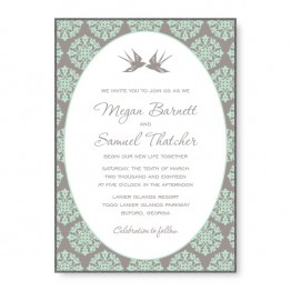 Two Birds 2-Layer Wedding Invitations