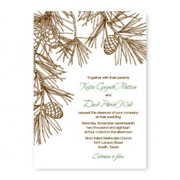 Pine Wedding Invitations