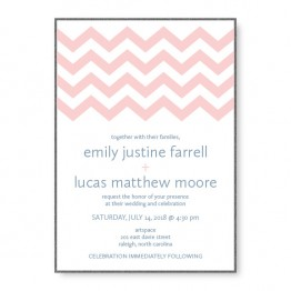 Chevron 2-Layer Wedding Invitations