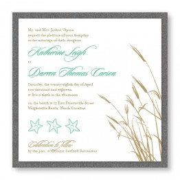 Classic Coastal 2-Layer Square Wedding Invitations