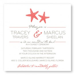 Starfish Square Wedding Invitations