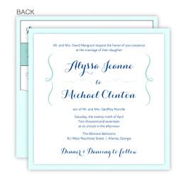Embrace Square Clutch Wedding Invitations