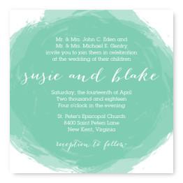 Watercolor Swirl Wedding Invitations