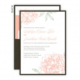 Peony Clutch Wedding Invitations