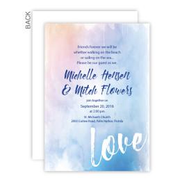 Watercolor Love Wedding Invitations