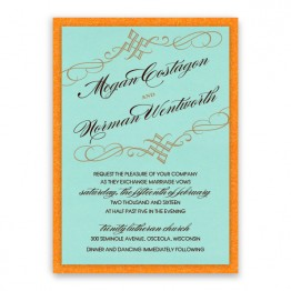 Bailey 2-Layer Thermography Wedding Invitations - LIMITED STOCK AVAILABLE
