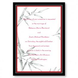 Bamboo Bliss Wedding Invitations