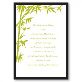 Bamboo Breeze Wedding Invitations