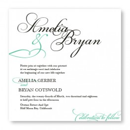 Bella Square Wedding Invitations
