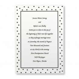 Flirty Dots Wedding Invitations - LIMITED STOCK ON  HAND
