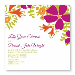 Bloom Square Wedding Invitations