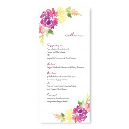 Blossoming Blooms Menu Cards