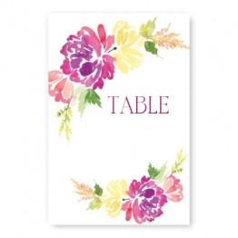 Blossoming Blooms Table Cards