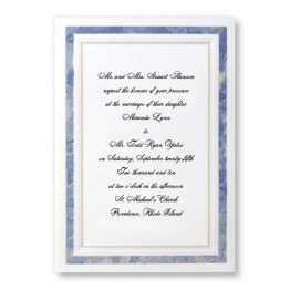 Blue Marble Wedding Invitations - LIMITED STOCK AVAILABLE