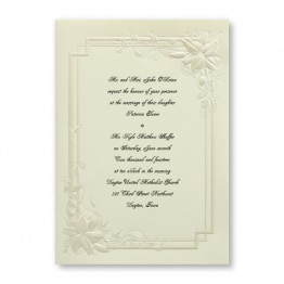 Bridal Lilies Wedding Invitations - LIMITED STOCK AVAILABLE