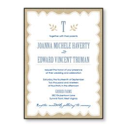 Burlap 2-Layer Wedding Invitations