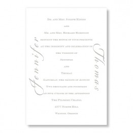 Calligraphy Invitation Wedding Invitations