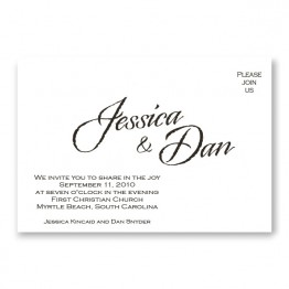 Calligraphy Style Wedding Invitations
