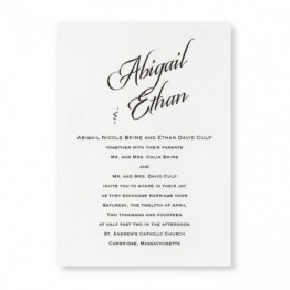 Camelot Wedding Invitations