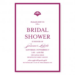 Casablanca Bridal Shower Invitations